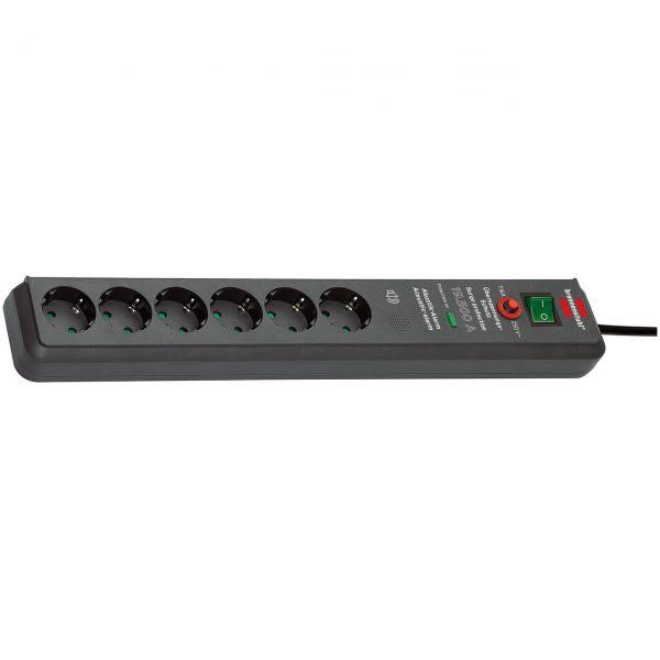 Сетевой фильтр Secure-Tec, 19500А, 3м, 6 розеток с выключателем, кабель H05VV-F 3G1,5кв.мм.