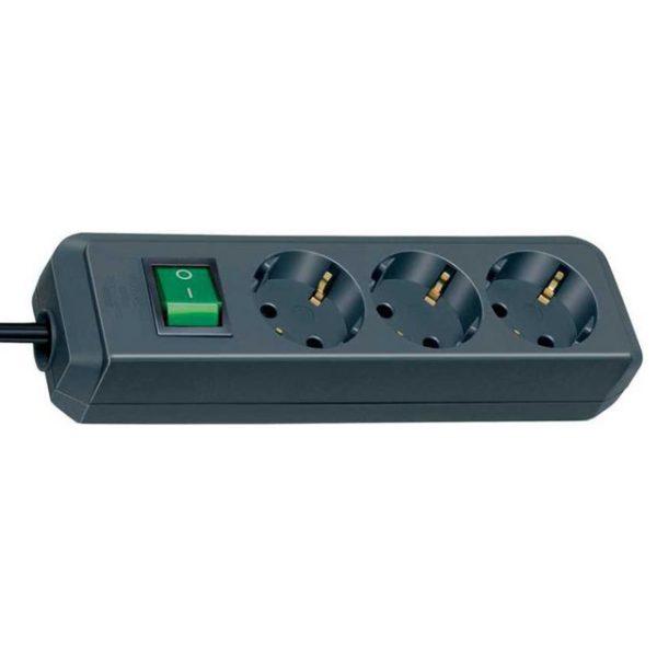 Удлинитель Eco-Line, 5м, 16А, 3600Вт., 3 розетки с выключателем, кабель H05VV-F 3G1,5кв.мм. / 1152900