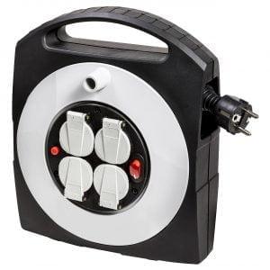 Удлинитель на катушке Primera-Line, 10м., 16A; 3300W, IP20, 4 розетки с выключателем, кабель H05VV-F 3G1,5кв.мм. / 1095650