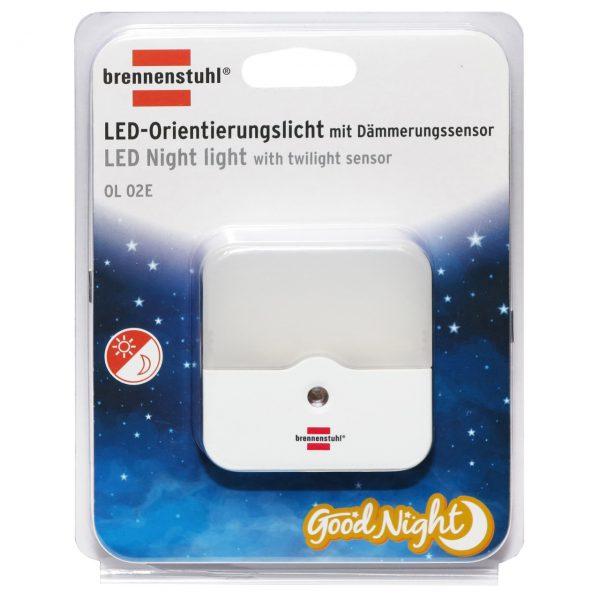 Светодиодный ночник Brennenstuhl с датчиком сумерек OL 02E