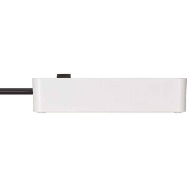 Удлинитель Ecolor, белый, 1,5м, 16А, 3600Вт., 3 розетки с выключателем, кабель H05VV-F 3G1,5кв.мм. / 1153230020