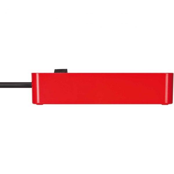 Удлинитель Brennenstuhl Ecolor, красный, 1,5м, 16А, 3600Вт., 3 розетки с выключателем, кабель H05VV-F 3G1,5кв.мм. / 1153230070