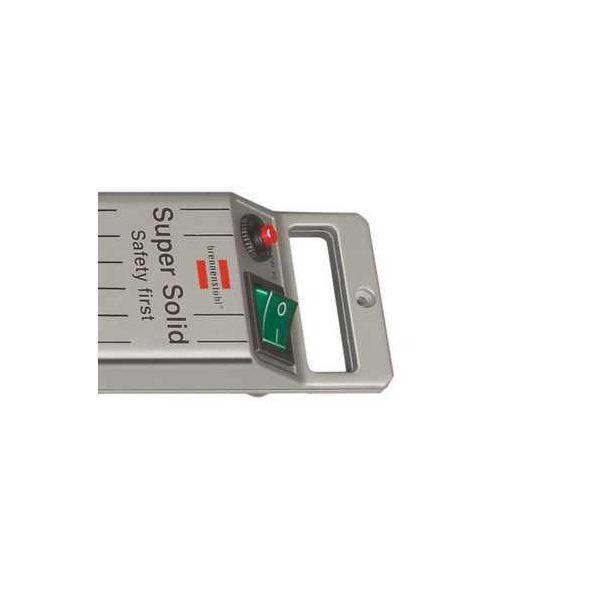 Удлинитель Super-Solid-Line, 2,5м, 16А, 3600Вт., 5 розеток с выключателем, кабель H05VV-F 3G1,5кв.мм., серебристый / 1153340115