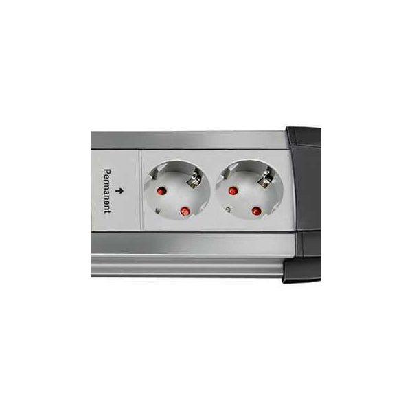 Удлинитель Premium-Alu-Line Technics, 3м, 16А, 3600Вт., 6 розеток (4 с выключателем 2 постоянные), кабель H05VV-F 3G1,5кв.мм. / 1396050072
