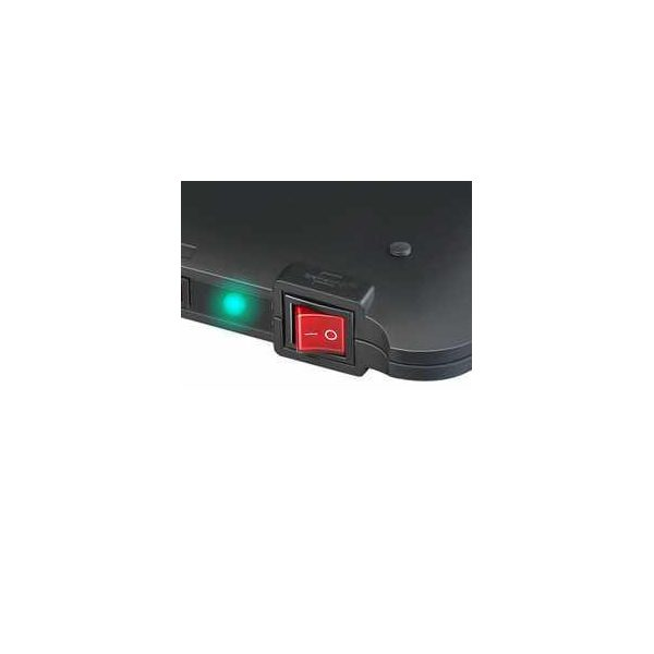 Сетевой фильтр PMA, 19.500A, 2м, 6 розеток с выключателями, кабель H05VV-F 3G1,5кв.мм.