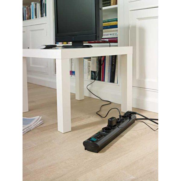 Сетевой фильтр Primera-Tec, 19.500А, 2м, 6 розеток с выключателем, кабель H05VV-F 3G1,5кв.мм.