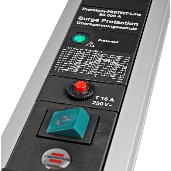 Сетевой фильтр Premium Protect-Line, 60.000А, 3м, 4 розетки с выключателем, кабель H05VV-F 3G1,5кв.мм.