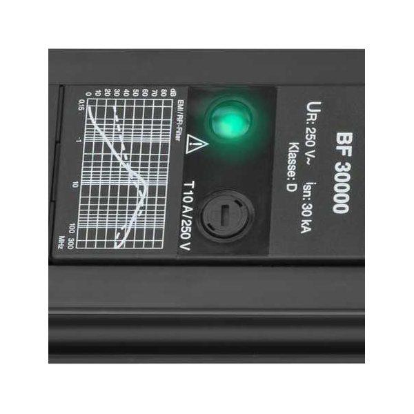 Сетевой фильтр Premium-Line, 30.000А, 3м, 6 розеток с выключателем, кабель H05VV-F 3G1,5кв.мм.