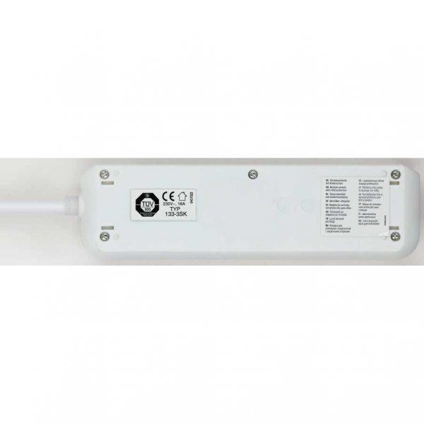 Удлинитель Eco-Line, 3м, 3 розетки с выключателем, 3500Вт. / 1152320400