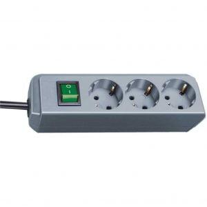 Удлинитель Eco-Line, 1,5м, 3 розетки с выключателем, 3500Вт. / 1152340015