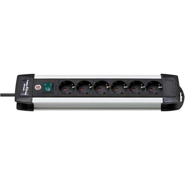 Удлинитель Premium Alu-Line, 3м, 6 розеток с выключателем, 3500Вт. / 1391000016