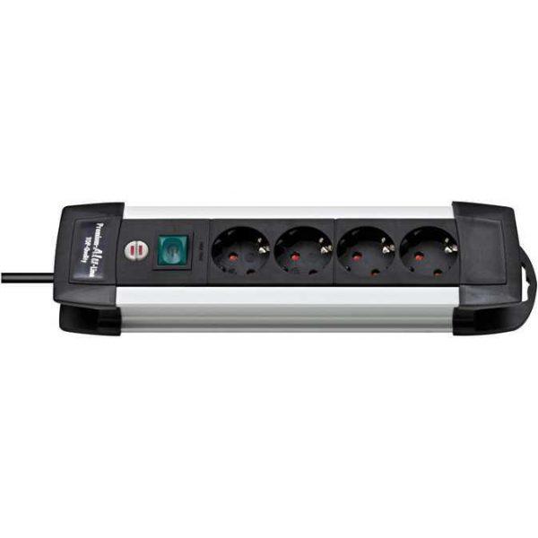 Удлинитель Premium Alu-Line, 1,8м, 4 розетки с выключателем, 3500Вт. / 1391000014