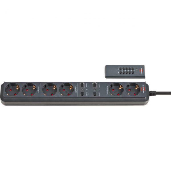 Удлинитель Eco-Line с дистанционным управлением, 1,5м, 6 розеток (2 постоянные, 4 управляемые) / 1159760626