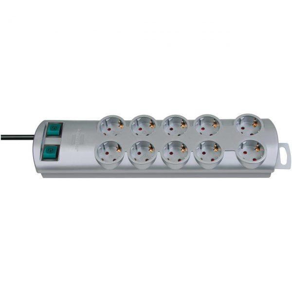 Удлинитель Primera-Line, 2м, 10 розеток с 2 выключателями / 1153390120