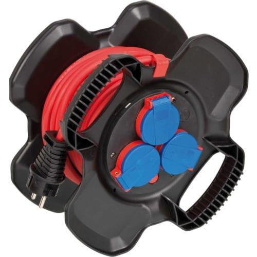 Удлинитель на резиновой катушке Compact 4 роз, IP 44, кабель 10м AT-N05V3V3-F 3G1.5, Bremaxx